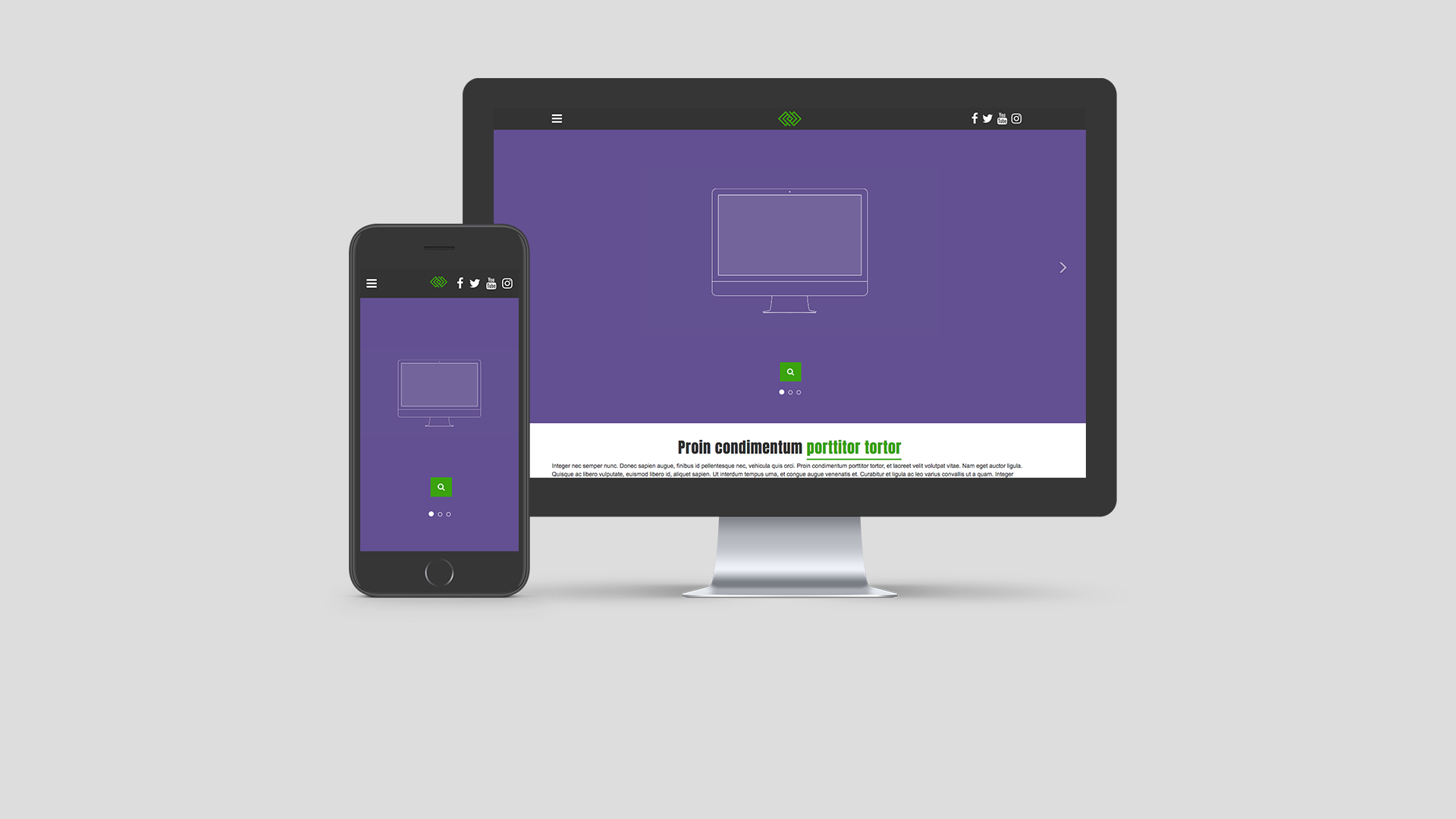 Boombox website template
